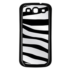 White Tiger Skin Samsung Galaxy S3 Back Case (black)
