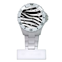 White Tiger Skin Plastic Nurses Watch