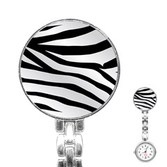 White Tiger Skin Stainless Steel Nurses Watch