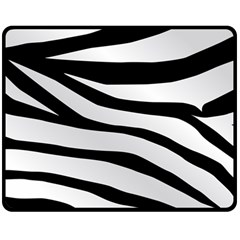White Tiger Skin Double Sided Fleece Blanket (medium)