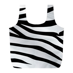 White Tiger Skin Full Print Recycle Bags (l)