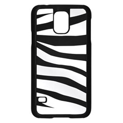 White Tiger Skin Samsung Galaxy S5 Case (black)