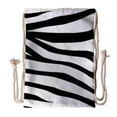 White Tiger Skin Drawstring Bag (large)