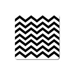Black And White Chevron Square Magnet