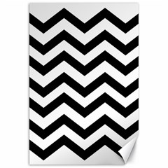Black And White Chevron Canvas 20  X 30