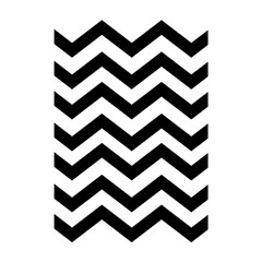 Black And White Chevron Shower Curtain 48  X 72  (small)