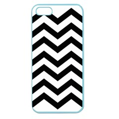 Black And White Chevron Apple Seamless Iphone 5 Case (color)