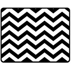 Black And White Chevron Double Sided Fleece Blanket (medium)