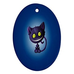 Funny Cute Cat Ornament (oval)