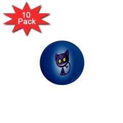 Funny Cute Cat 1  Mini Magnet (10 Pack)