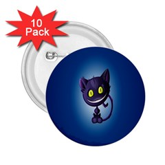 Funny Cute Cat 2 25  Buttons (10 Pack)