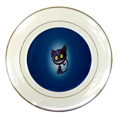 Funny Cute Cat Porcelain Plates