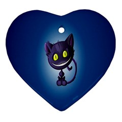 Funny Cute Cat Heart Ornament (two Sides)