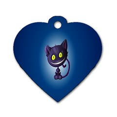 Funny Cute Cat Dog Tag Heart (one Side)