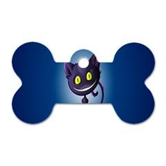 Funny Cute Cat Dog Tag Bone (one Side)