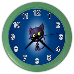 Funny Cute Cat Color Wall Clocks