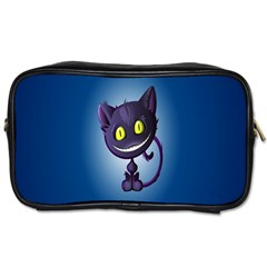 Funny Cute Cat Toiletries Bags 2 Side