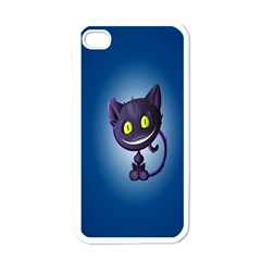 Funny Cute Cat Apple Iphone 4 Case (white)