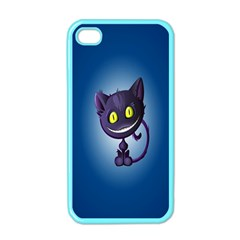Funny Cute Cat Apple Iphone 4 Case (color)