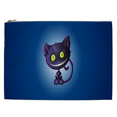 Funny Cute Cat Cosmetic Bag (xxl)