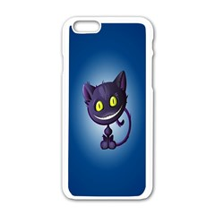 Funny Cute Cat Apple Iphone 6/6s White Enamel Case