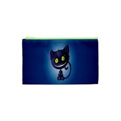 Funny Cute Cat Cosmetic Bag (xs)