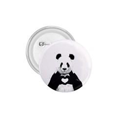 Panda Love Heart 1 75  Buttons