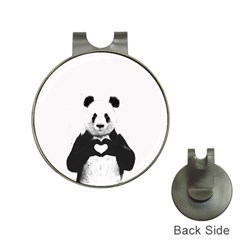 Panda Love Heart Hat Clips With Golf Markers