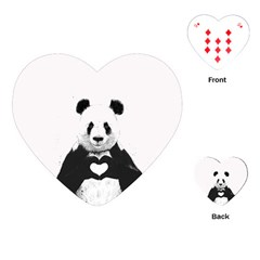 Panda Love Heart Playing Cards (heart)