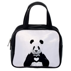 Panda Love Heart Classic Handbags (one Side)
