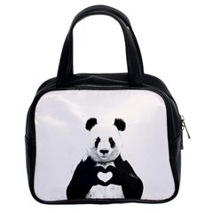 Panda Love Heart Classic Handbags (2 Sides)