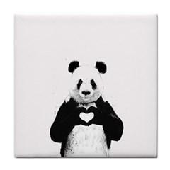 Panda Love Heart Face Towel
