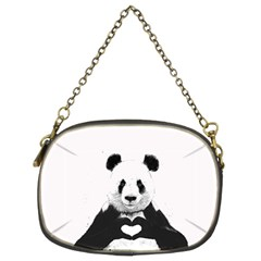 Panda Love Heart Chain Purses (two Sides)