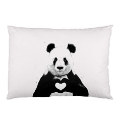 Panda Love Heart Pillow Case