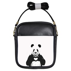 Panda Love Heart Girls Sling Bags