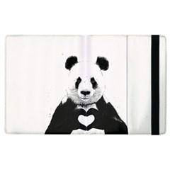 Panda Love Heart Apple Ipad 3/4 Flip Case