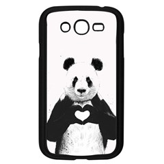 Panda Love Heart Samsung Galaxy Grand Duos I9082 Case (black)