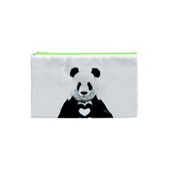 Panda Love Heart Cosmetic Bag (xs)