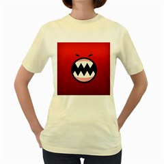 Funny Angry Women s Yellow T Shirt