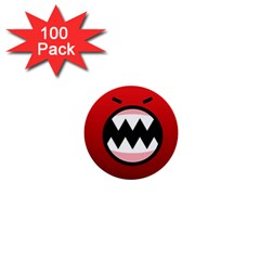 Funny Angry 1  Mini Buttons (100 Pack)