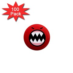 Funny Angry 1  Mini Magnets (100 Pack)