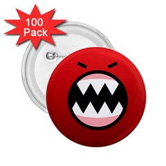 Funny Angry 2 25  Buttons (100 Pack)