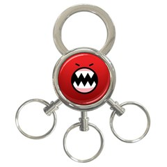 Funny Angry 3 Ring Key Chains