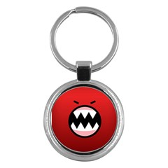 Funny Angry Key Chains (round)