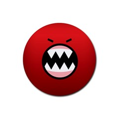 Funny Angry Rubber Round Coaster (4 Pack)