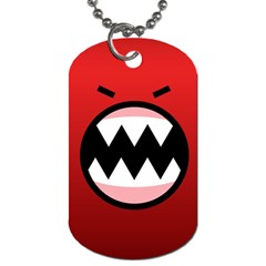 Funny Angry Dog Tag (two Sides)