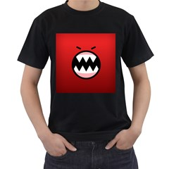 Funny Angry Men s T Shirt (black) (two Sided)