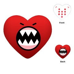 Funny Angry Playing Cards (heart)