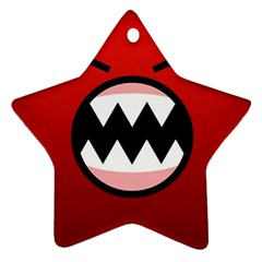 Funny Angry Star Ornament (two Sides)