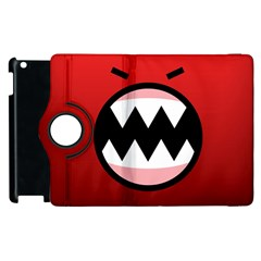 Funny Angry Apple Ipad 3/4 Flip 360 Case